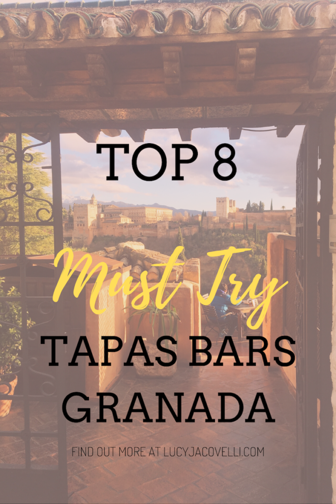 the top 8 must-try tapas bars in granada - pin this for later!