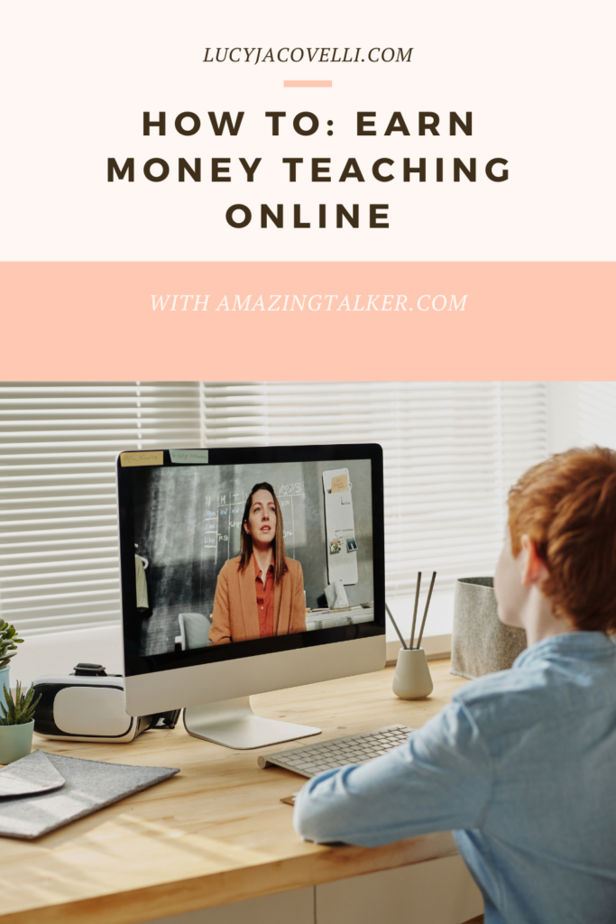 how to teach english online and earn money with english talker