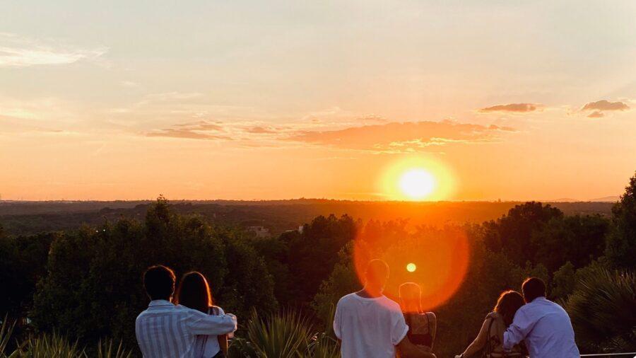 madrid sunset templo de debod