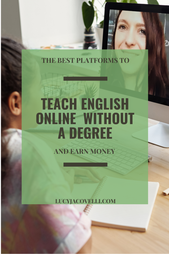 pin this post for later on pinterest, the best platforms to teach english online without a degree